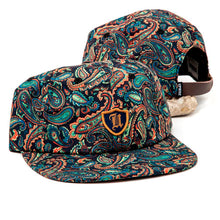 Polo Crest 6-Panel (Paisley on Black)