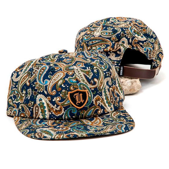 Polo Crest 6-Panel (Paisley on Navy)