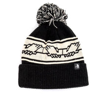 Inter Solid Pom Pom Beanie (Black)