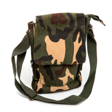 Vintage Canvas Military Tech Bag (Woodland Camo)