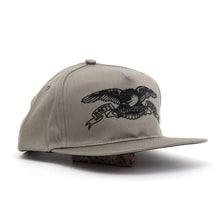 Embroidered Basic Eagle Adj. Snapback Hat (Khaki / Black)