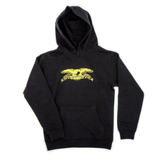 Youth Basic Eagle Hooded Sweatshirt (Black / Yellow)