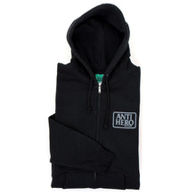 Reserve Zip Up Hooded Sweatshirt (Black / Grey)