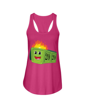 2020 Dumpster Fire Ladies Racerback Tank