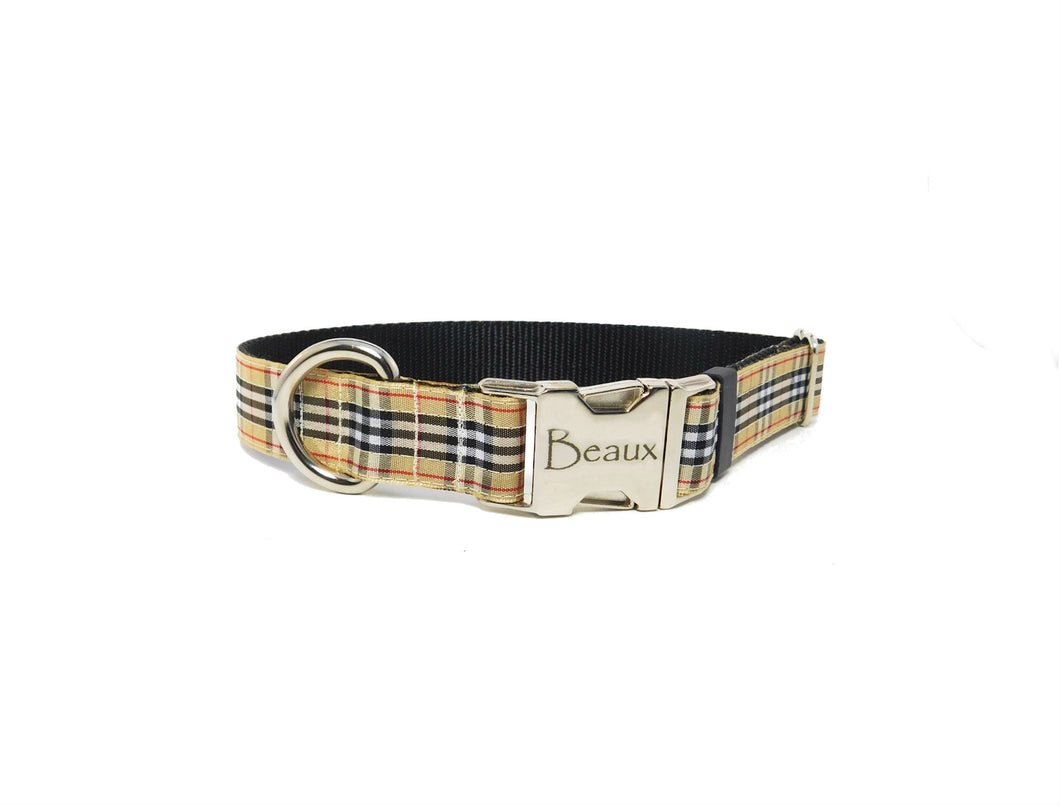 Preppy Tartan Plaid Dog Collar