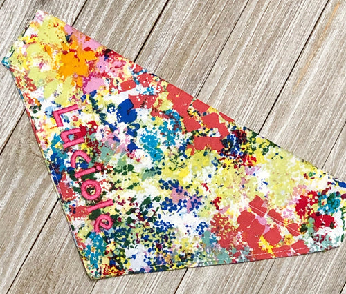 Personalized  Slide On Bandana -Splatter Paint