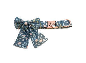 Fancy Bow Dog Collar -Pick Your Print -Fabric Style