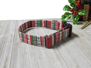 Christmas Dog Collar- Fabric Style - Holiday Style