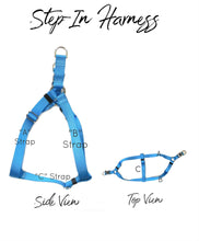 custom step in dog harness