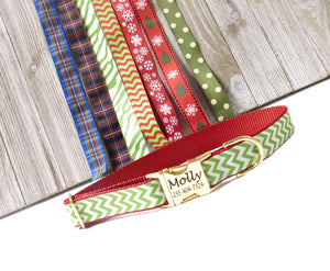 "Holiday Dog Collars - Pick your Print - 1"" Wide only"