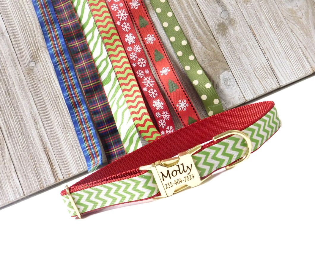 Holiday Dog Collars - Pick your Print - 1