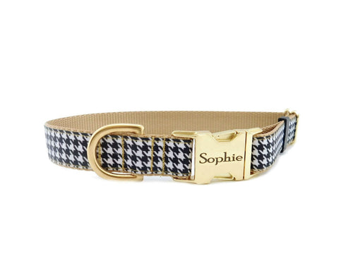 houndstooth dog collar
