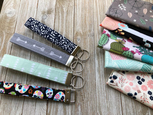 Fabric Key Fob, Pick your Print - 41 prints