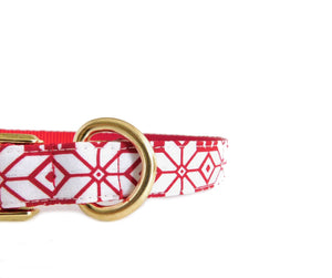 Scandinavian Snowflake Dog Collar -Fabric Style