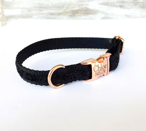 rose gold girl dog collar