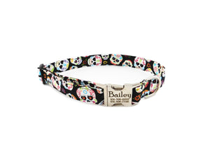 sugar skulls dog collars