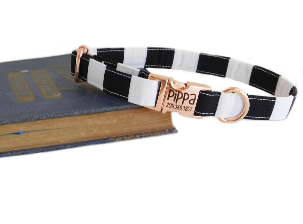 striped dog collar