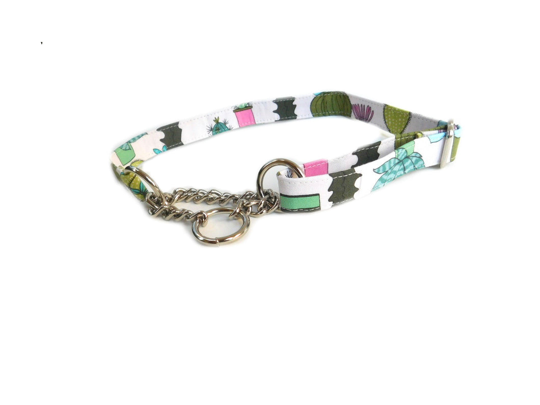 Cactus Floral Martingale Dog Collar- Fabric style