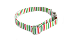candy stripes dog collar