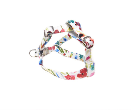 Floral Watercolor Step in Fabric Harness