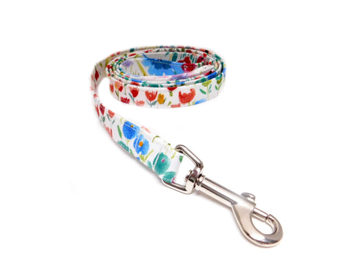 Floral Watercolor Fabric Leash