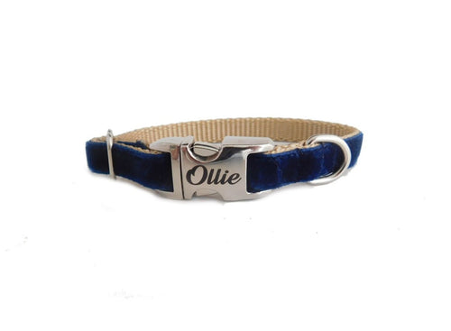 navy dainty collar