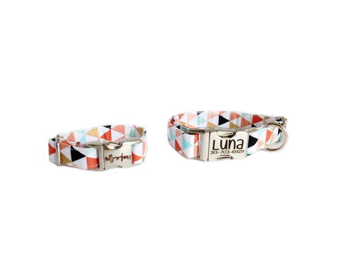 Triangle Print Friendship Bracelet - Matching Collar Sold Separately-
