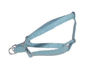 Turquoise Dotty Print Step in Harness - Fabric Style