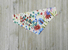 Personalized Dog Bandana - Slide On Bandana - Wild Flowers