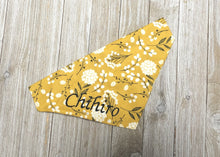 Yellow Floral Slide On Bandana - Embroidery personalization