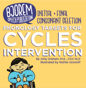 PRE-SALE: Initial & Final Consonant Deletion Phonology Targets for Cycles Intervention