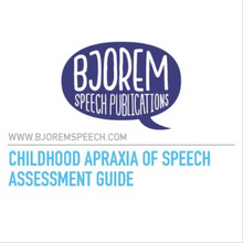 Informal Childhood Apraxia of Speech Assessment - Download