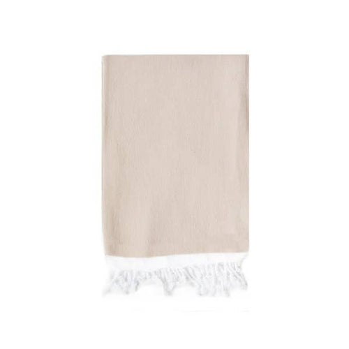 Basic Single Stripe Hand Towel - Beige