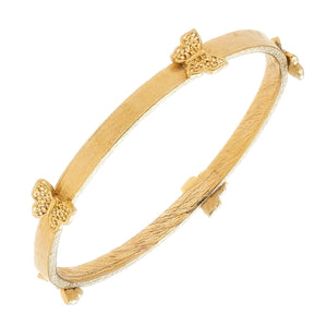 HANDCAST GOLD BUTTERFLY BANGLE