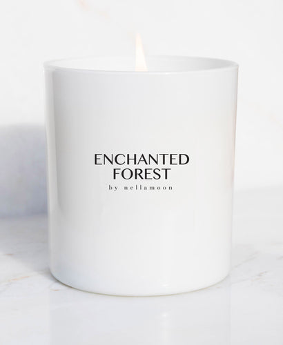 enchanted forest soft glow candle
