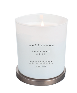 let's get cozy soft glow candle