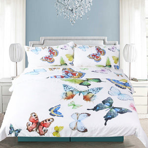 Flying Butterflies Duvet Cover Set