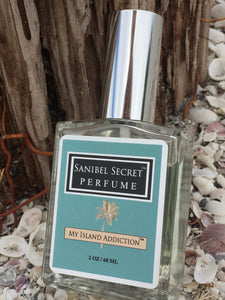 Sanibel Secret fragrance for women, inspired by Sanibel island. Available at Suncatchers Dream, and Pandoras Box Gift Shop on Sanibel Island, FL. By My Island Addiction LLC