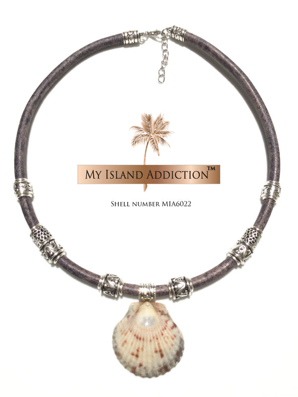 My Island Addiction LLC Inner Peace' Shell Choker Necklace MIA6022