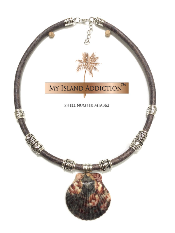 Thunder Rose Shell Choker Necklace MIA3621