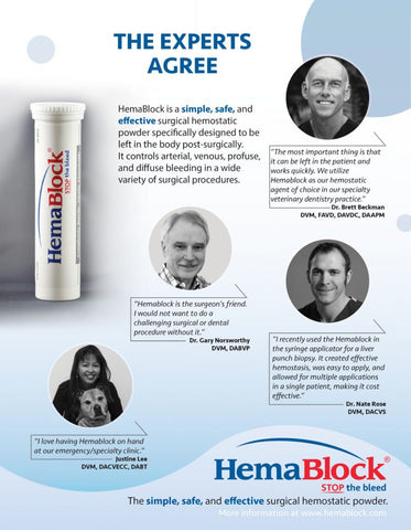 Hemablock 5 Packets for Hemostasis in Veterinary Dentistry Testimonials