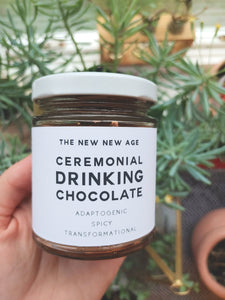 New! Ceremonial Adaptogenic Drinking Chocolate by The New New Age