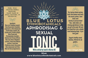 Sexual Tonic & Aphrodisiac by Blue Lotus Ethnobotanicals- Made in Nelson BC
