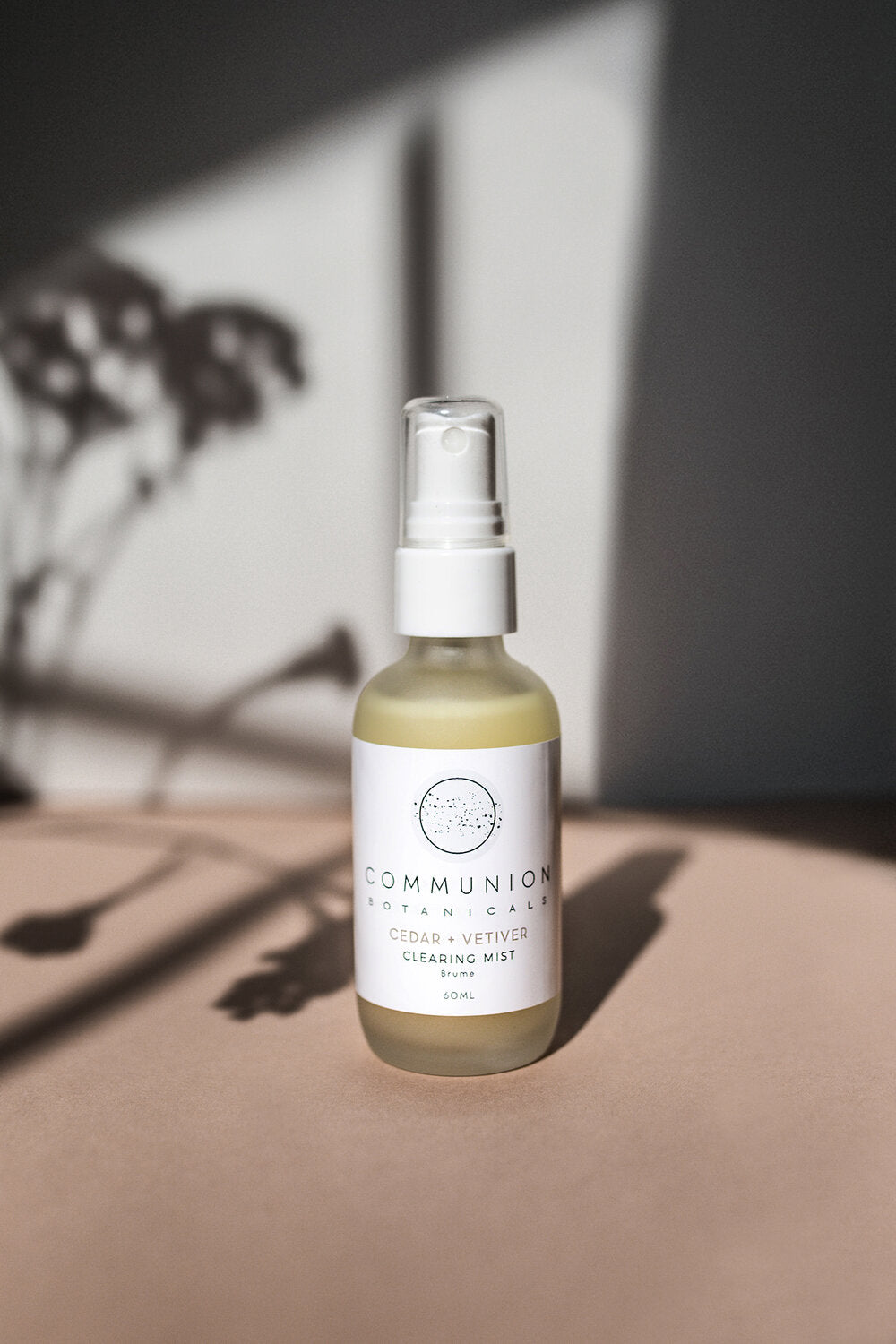 New! Cedar + Vetiver Clearing Mist by Communion Botanicals