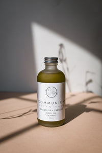 New! Grand Fir + Cypress Body Oil by Communion Botanicals