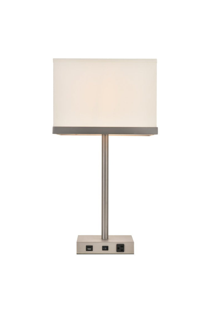 ZC121-TL3011 - Regency Decor: Brio Collection 1-Light Vintage Nickel Finish Table Lamp