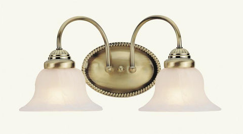 Livex Edgemont 2 Light Antique Brass Bath Light - C185-1532-01