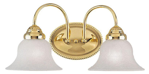 Livex Edgemont 2 Light Polished Brass Bath Light - C185-1532-02