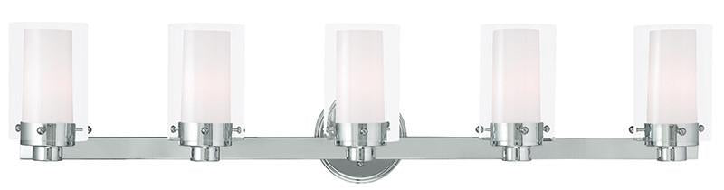 Livex Manhattan 5 Light Polished Chrome Bath Light - C185-15455-05