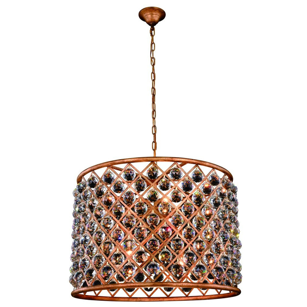 ZC121-1206D27GI/RC - Urban Classic: Madison 8 light Golden Iron Chandelier Clear Royal Cut Crystal